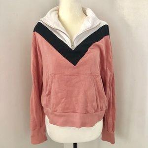 Wildfox Colourblock Zipper Sweater Size Small
